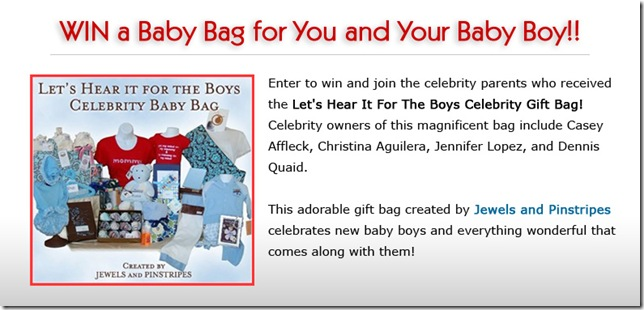 Win a baby bag for you and your baby boy!