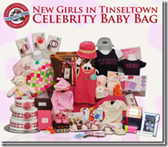 bid and win a jewels and pinstripes new girls in tinseltown celebrity baby bag