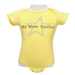 my mom rocks baby onesie