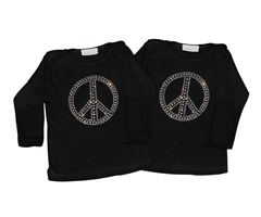 Peace baby long sleeve shirt