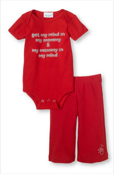 got my mind on my mommy & my mommy on my mind onesie and pant set
