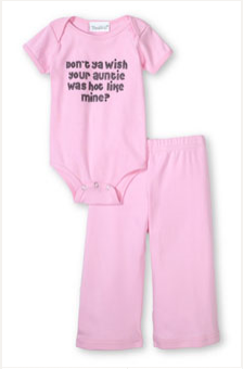 Don't ya wish your Auntie was hot like mine?'™ onesie and pant set