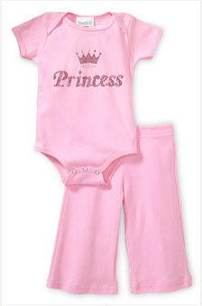 Princess onesie and pant set